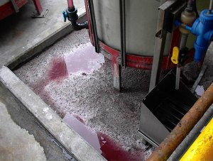 Spilled Corrosive Liquid From Aboveground Tank