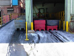 Non-Stormwater Discharge At Industrial Facility Identified During SWPPP Inspection