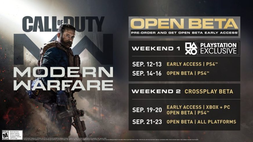 Call Of Duty Modern Warfare Beta Introduces Cross Play And New Modes To Franchise Cal Times