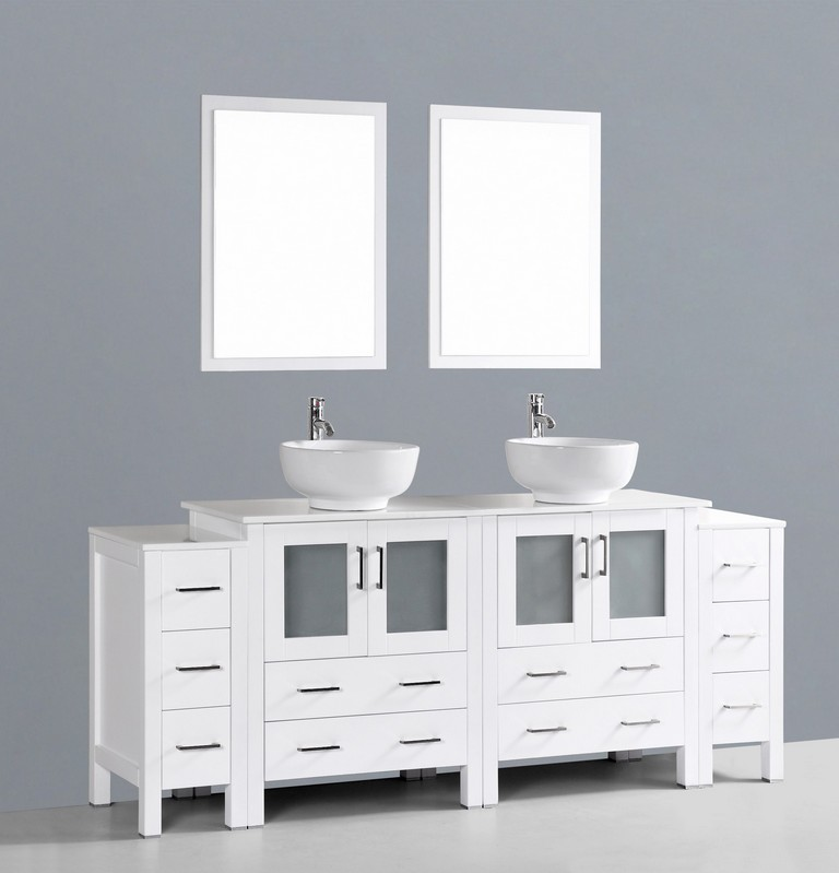 84 Inch Double Sink Bathroom Vanities