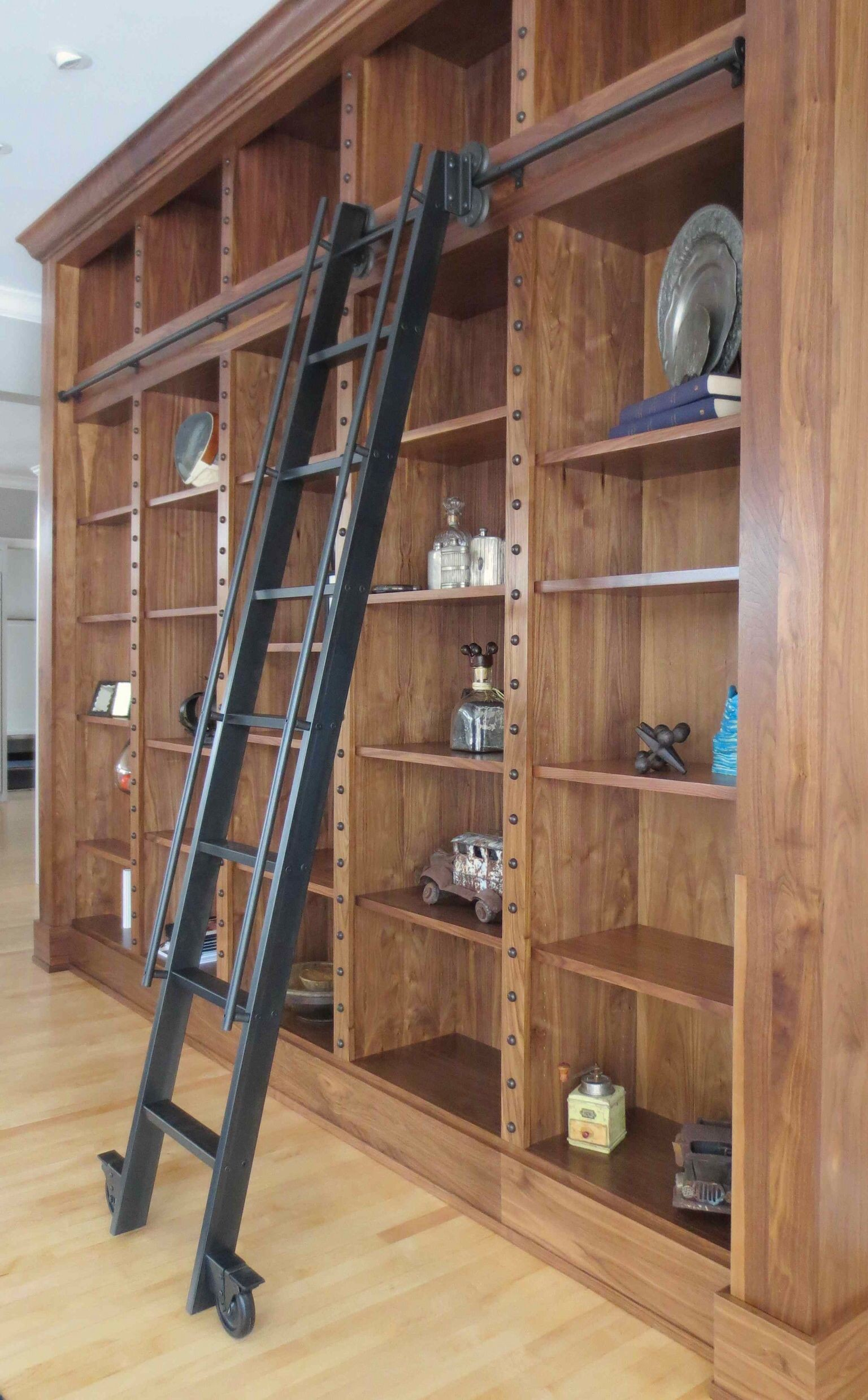 Bookcase With Sliding Ladder