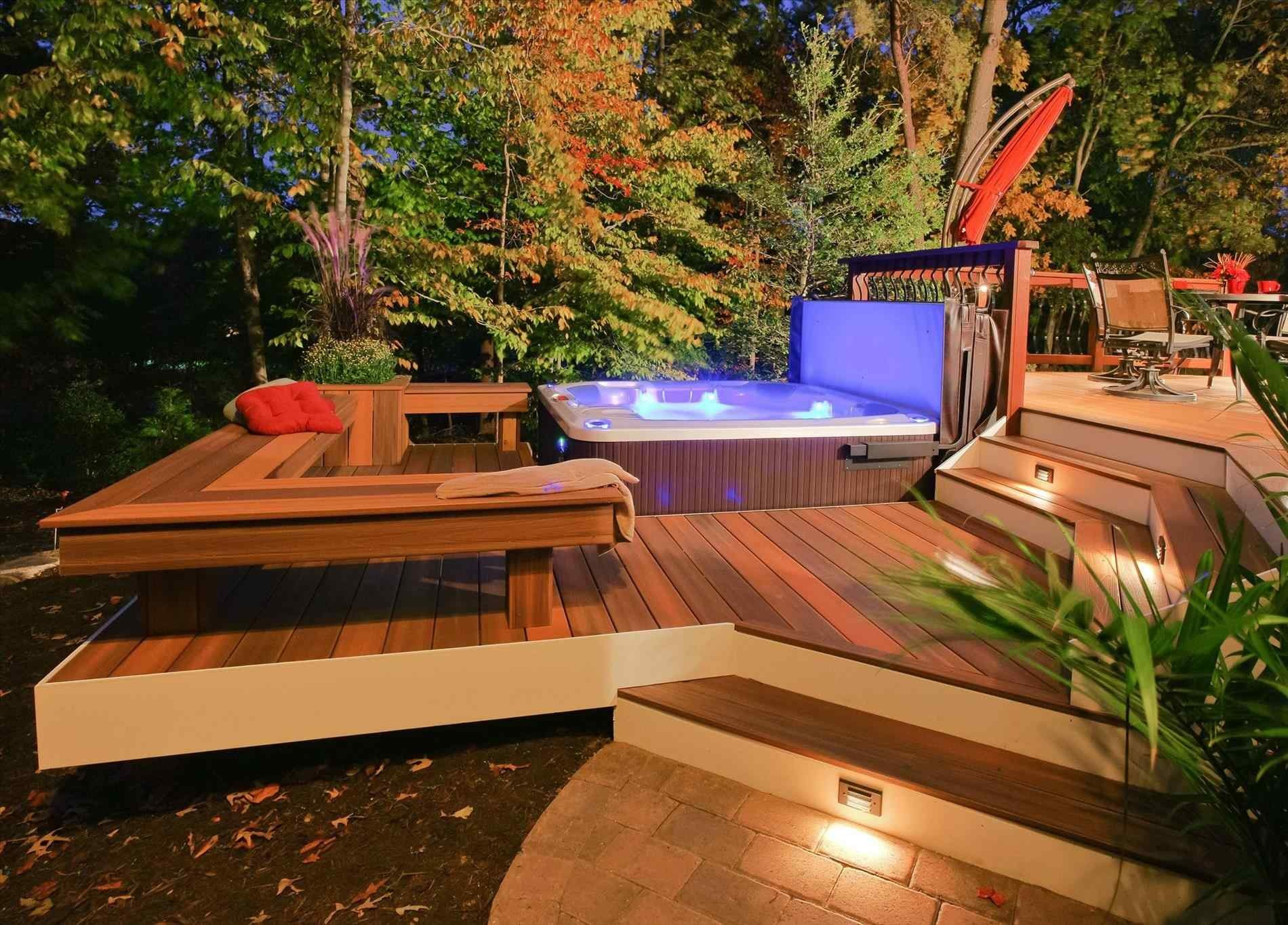 Deck Designs With Hot Tub And Fire Pit