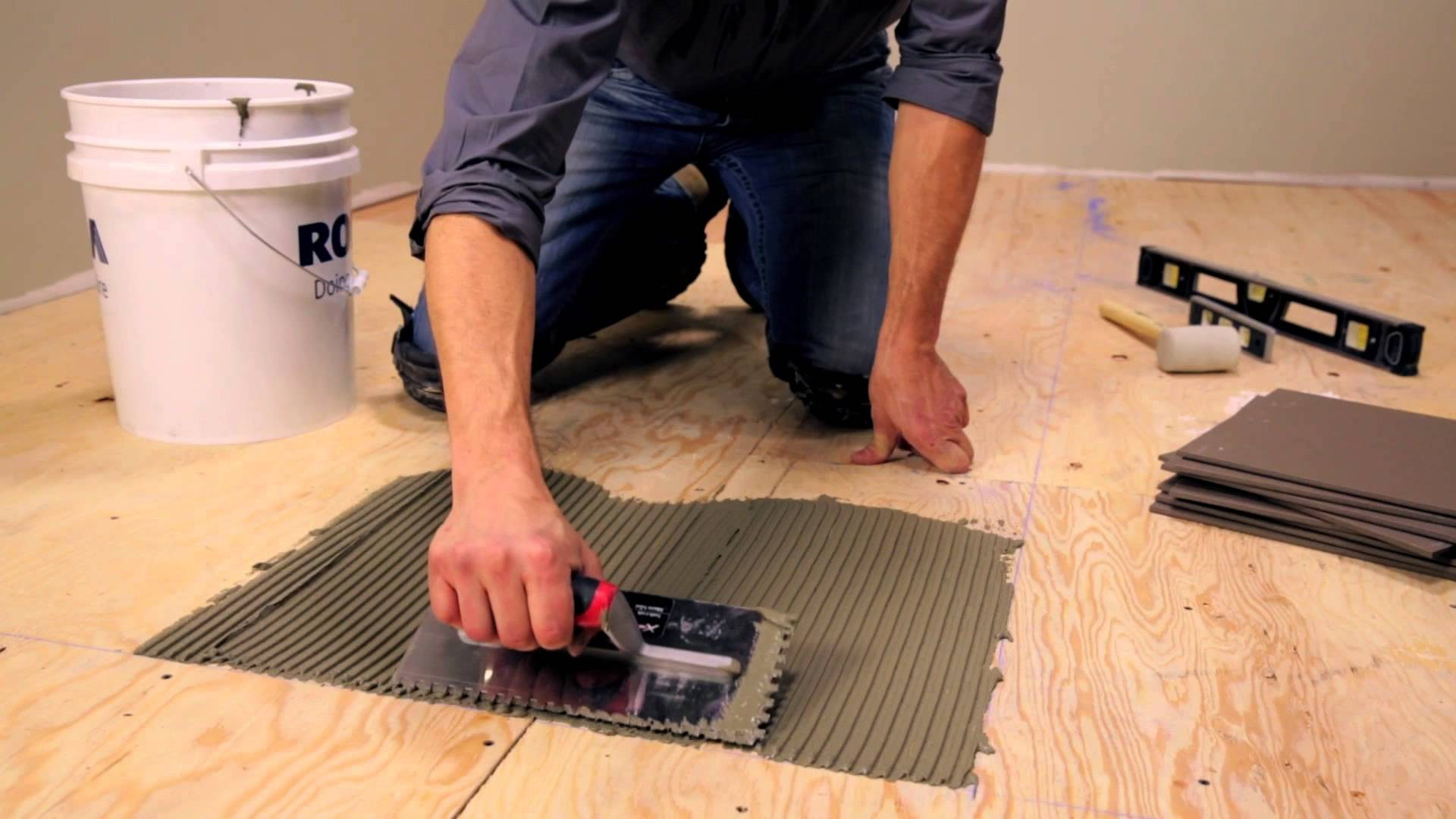 Heated Tile Floor Installation