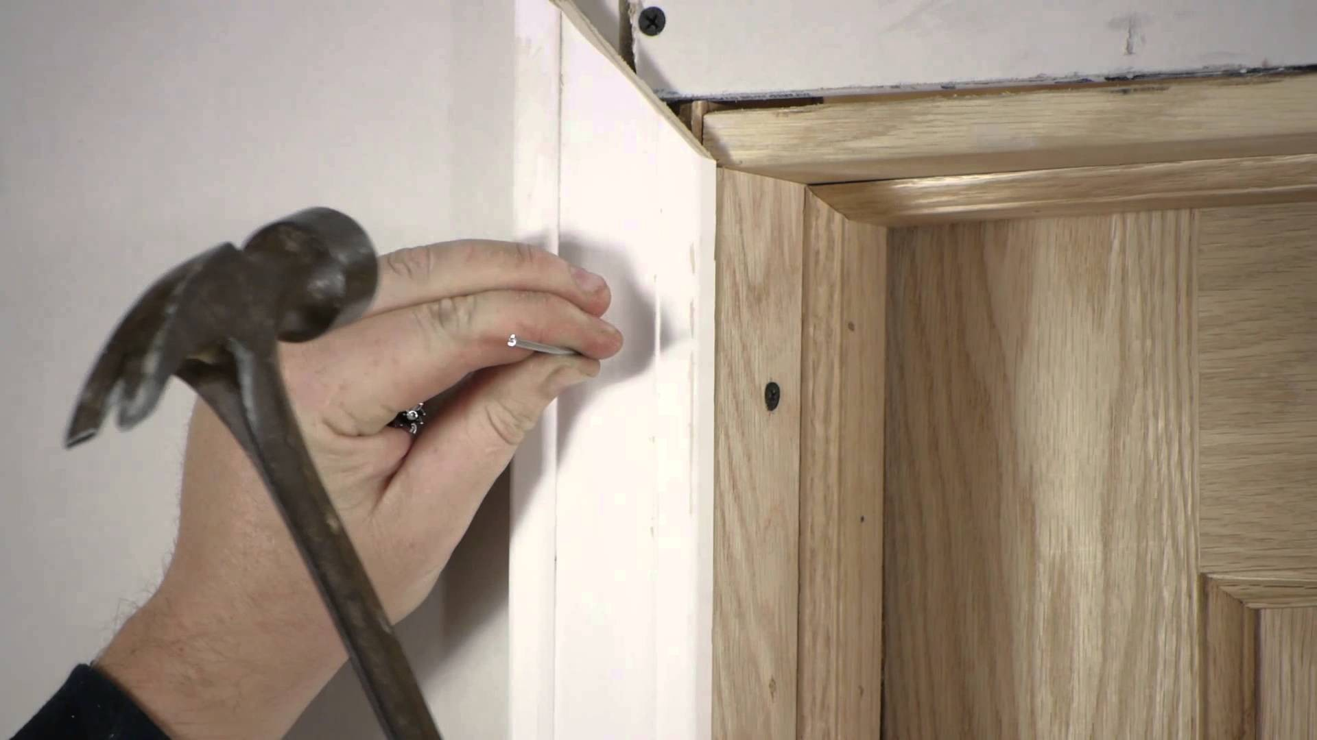 How To Install A Prehung Interior Door With Casing Attached
