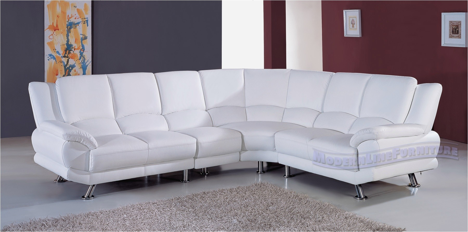 Kuka Sectional Leather Sofa