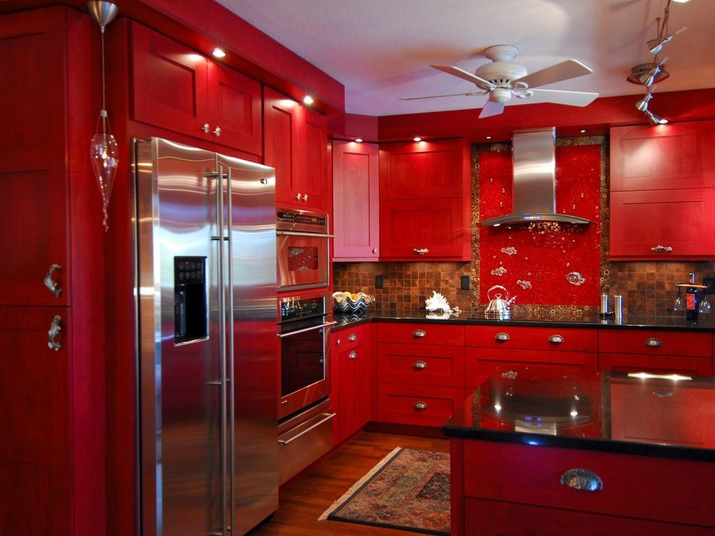 Red And Black Kitchen Rugs