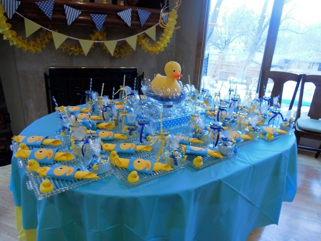 Rubber Ducky Baby Shower Table Decor