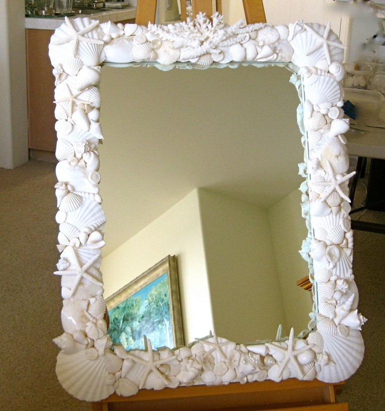 Seashell Mirrors For Bathroom