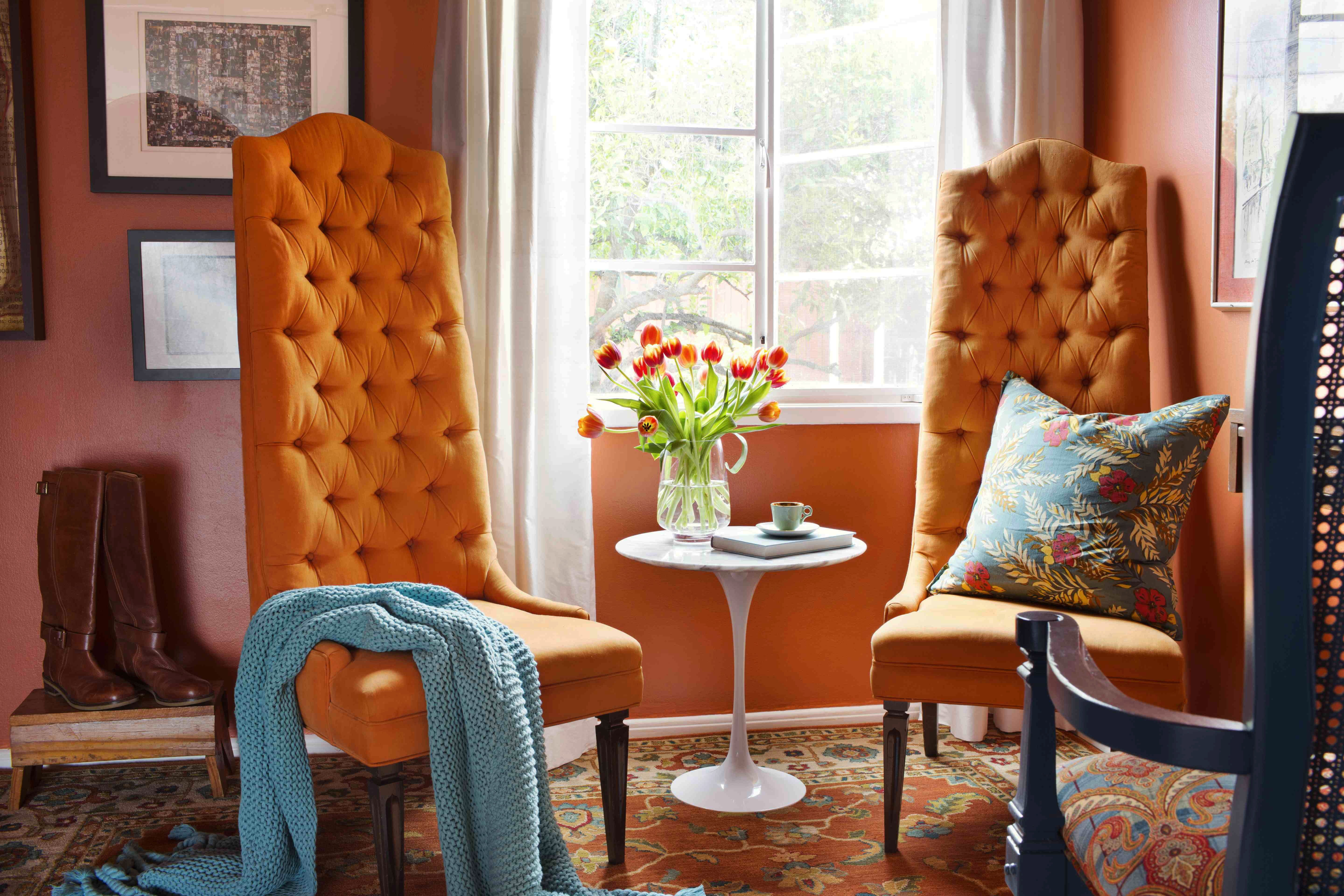 Teal And Orange Living Room Decor