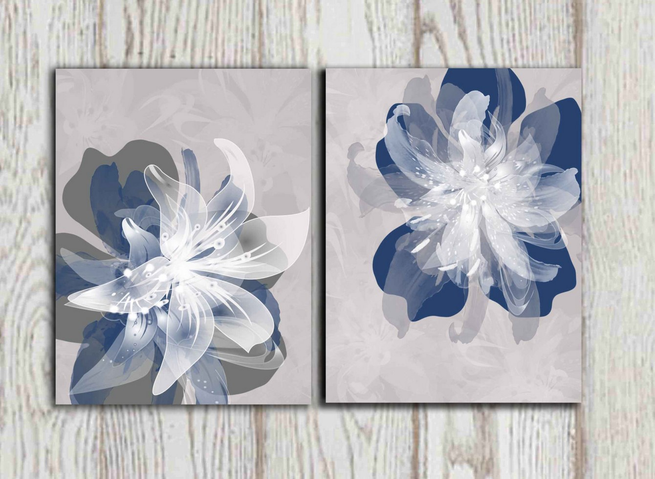 Blue And Gray Wall Art