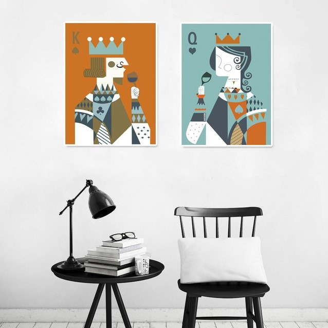 King And Queen Wall Art