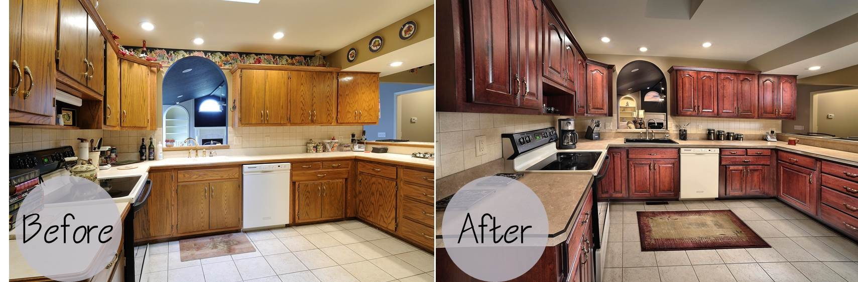 Kitchen Cabinet Refacing Before And After