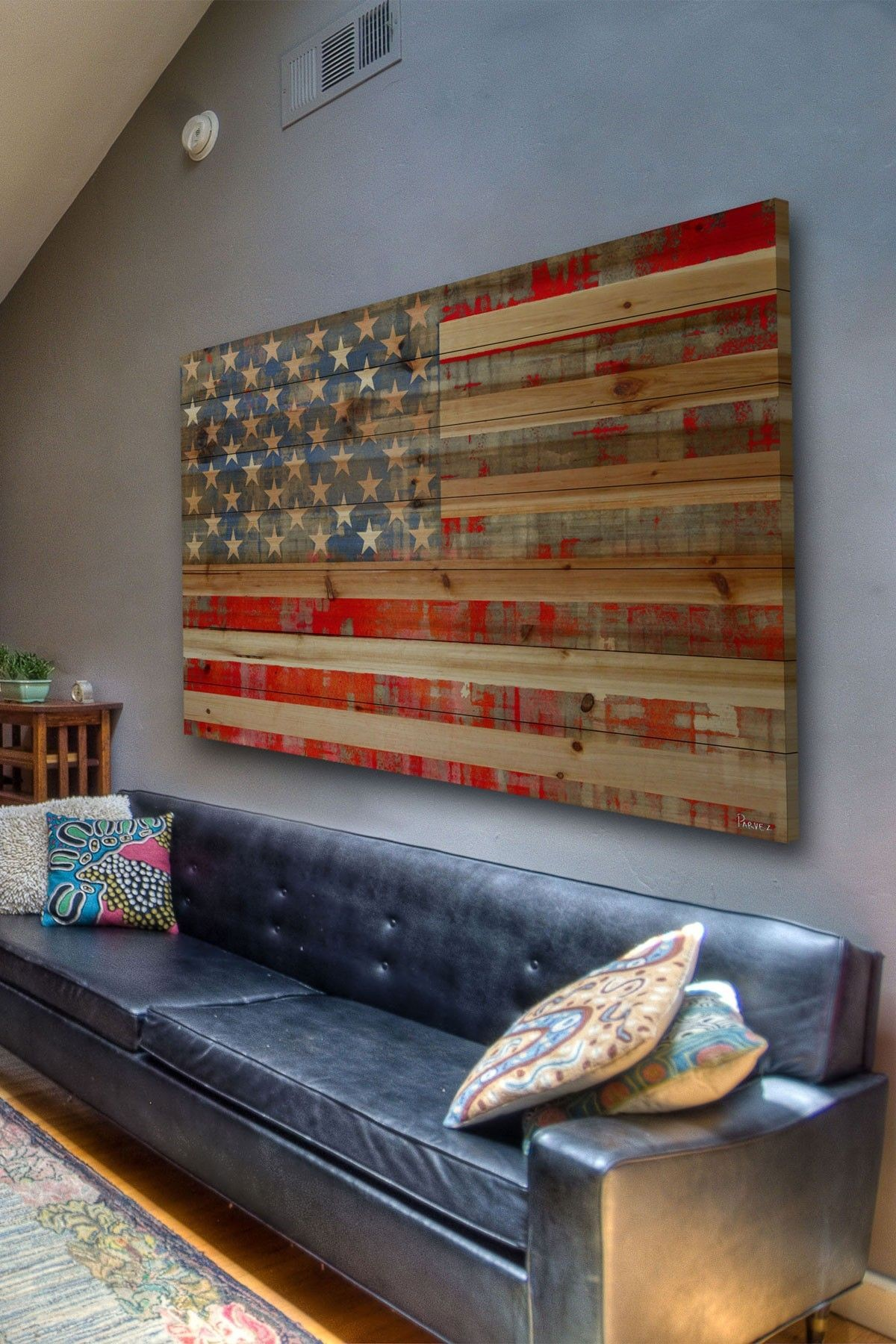 Metal American Flag Wall Art