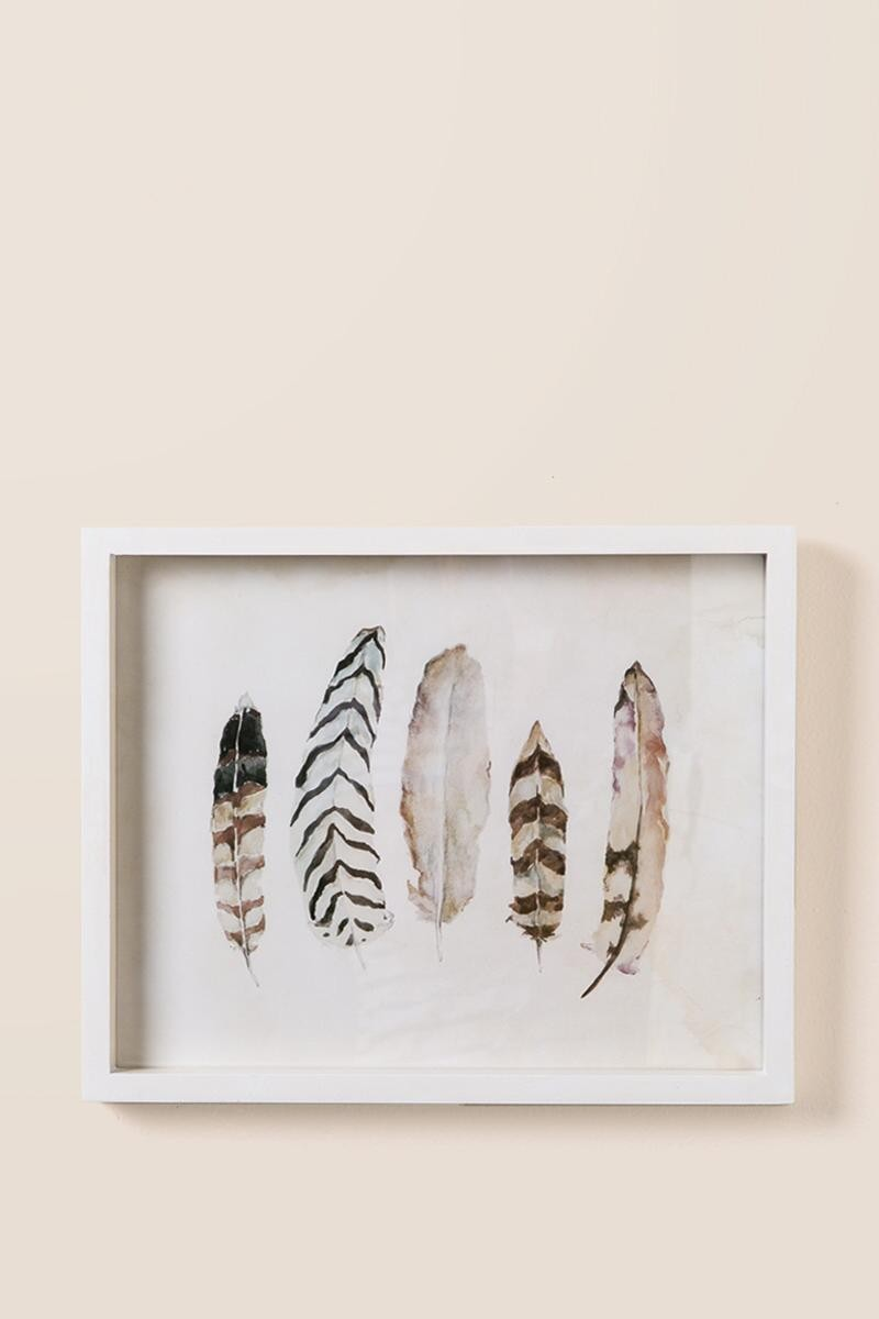 Metal Feather Wall Art