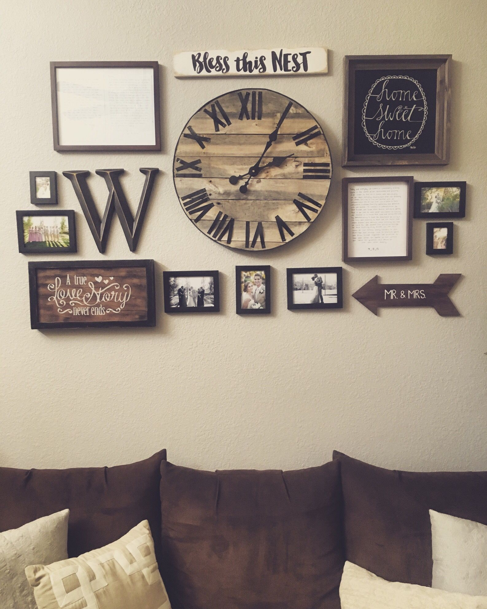 Metal Wall Art Clock