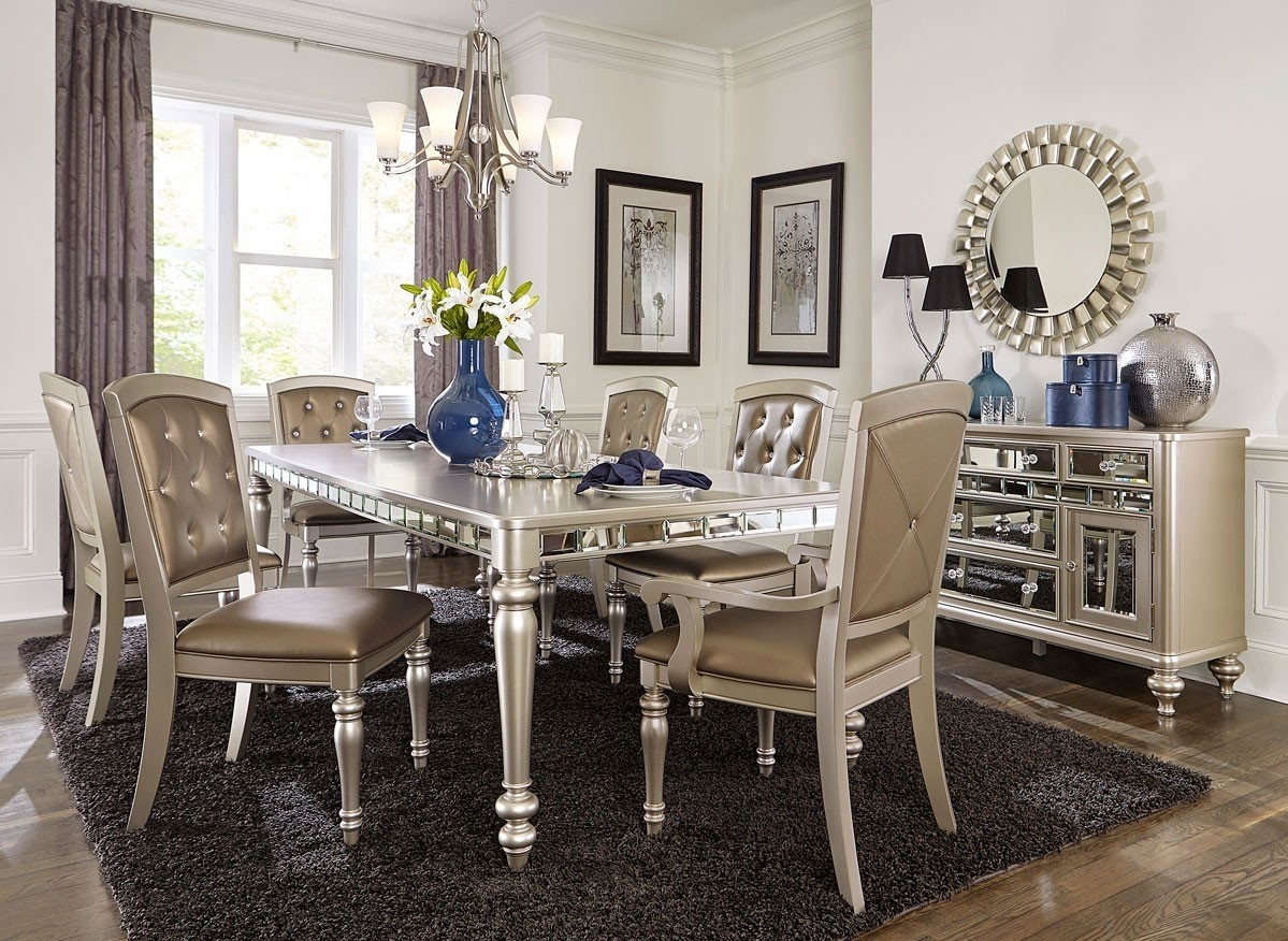 Mirrored Dining Table Sets