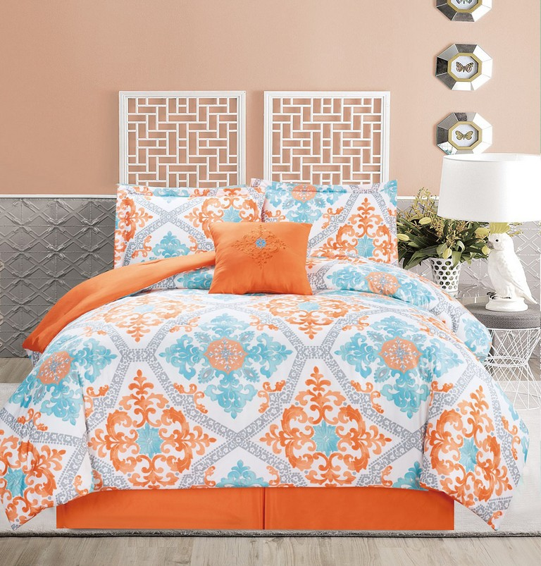 Orange And Blue Bedding Sets