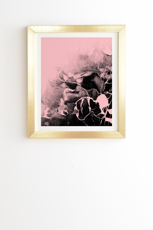 Pink And Gold Wall Art