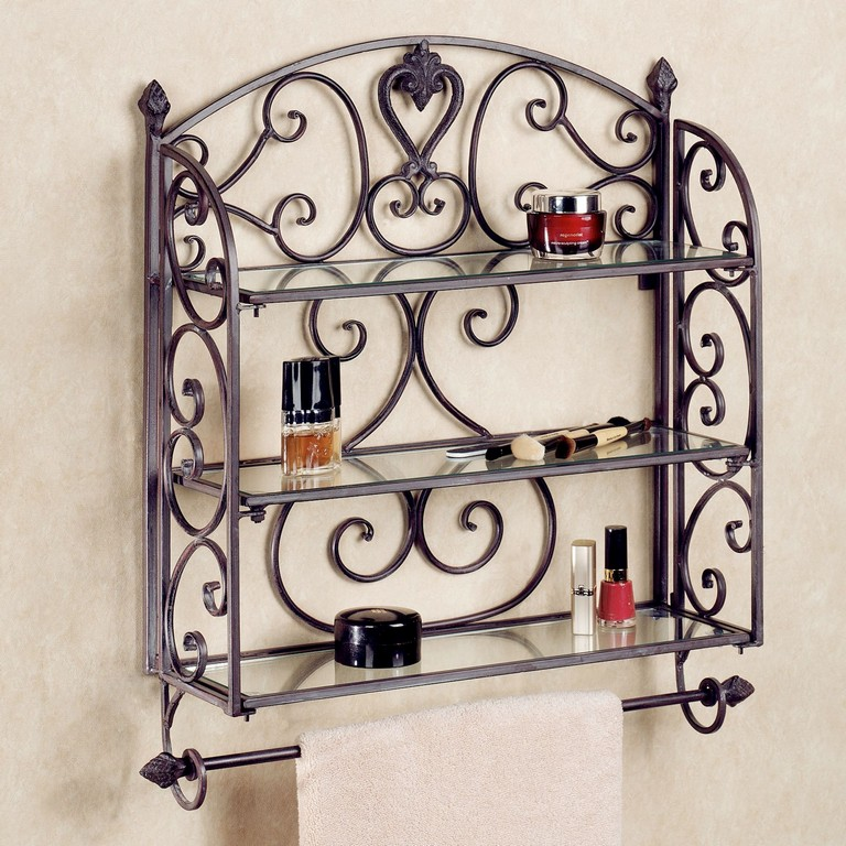 Wrought Iron Bathroom Shelves