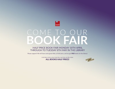 BOOK FAIR: Half price bargains available in the Library next week
