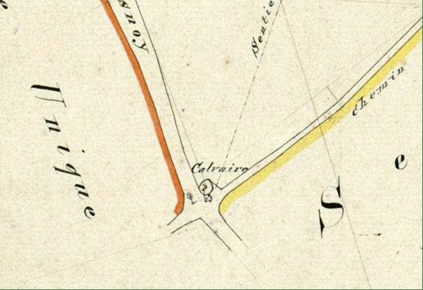 Cadastre 1827 Section n ° 63 P 31/787 Intersection des chemins Le Quesnoy et Poix du Nord