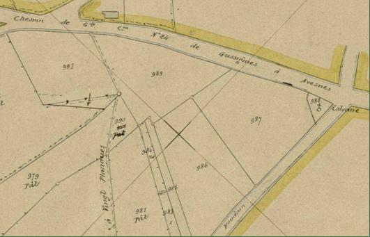 Cadastre 1913 section unique 6 ème feuille n° 988 P31/714