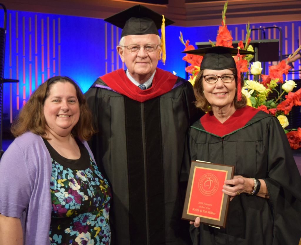 Keith and Pat Miller:  2018 Alumni of the Year