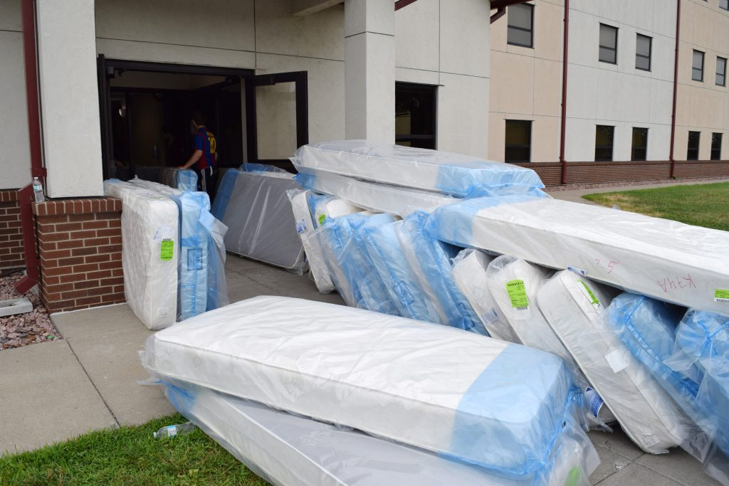 New Mattresses Arrive at Dorm
