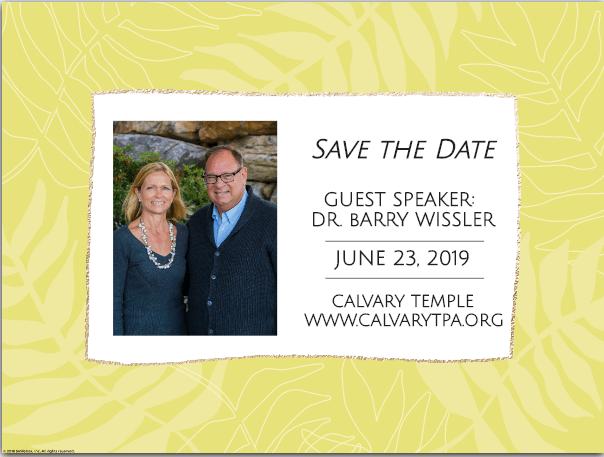 Guest Speaker, Dr. Barry Wissler
