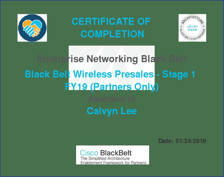 Cisco Black Belt For Wireless Pre Sales Stage 1 Quiz