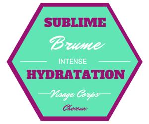 etiquette BRUME HYDRATATION ONTENSE