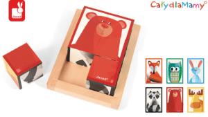 Klocki drewniane prezent pod choinke dla dwulatka