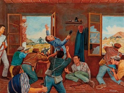 Battaglia di Purocielo, quadro di Ferdinando Gazza