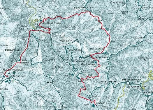 Mappa Casetta di Tiara Diacci