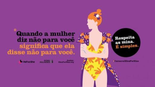 campanha ONU mulheres carnaval