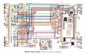 1967  81 Camaro Laminated Color Wiring Diagram 11