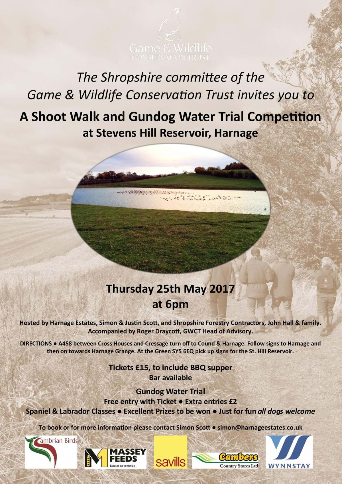 Game & Wildife Conservation Trust Invitation