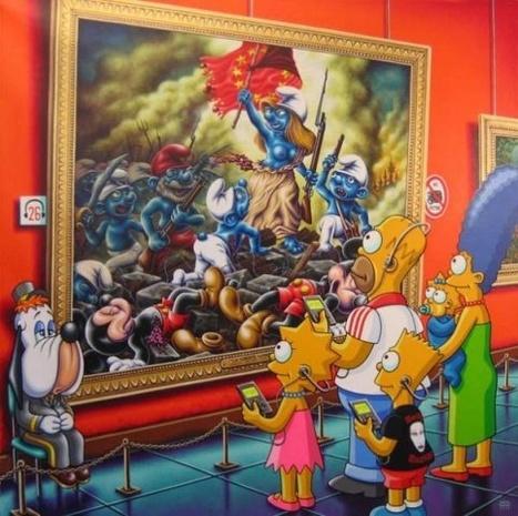 Resultado de imagen de los simpson en los museos