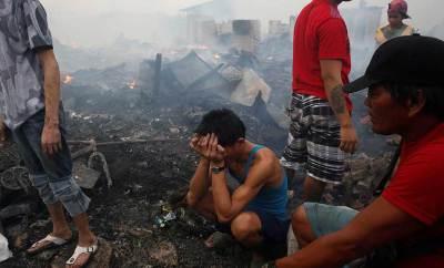 Incendio en colonia de ocupantes en Filipinas