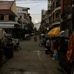 Sundown on Street 172, Phnom Penh, Cambodia.