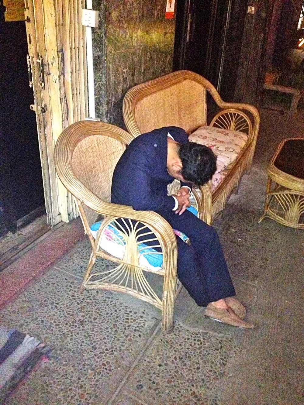 Cambodian Moments Sleeping Security Guards