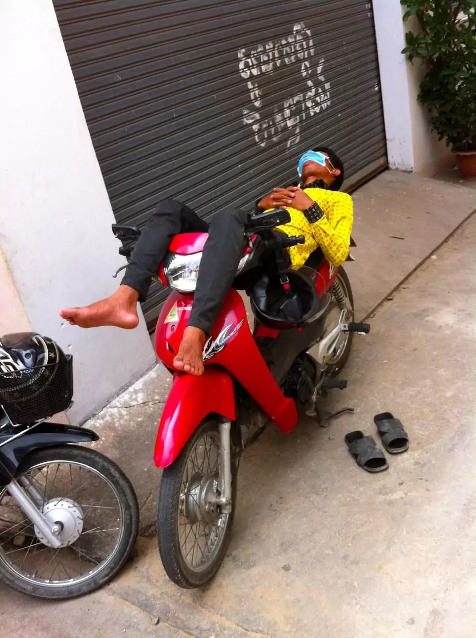 Cambodian Moments Sleeping Moto Dop