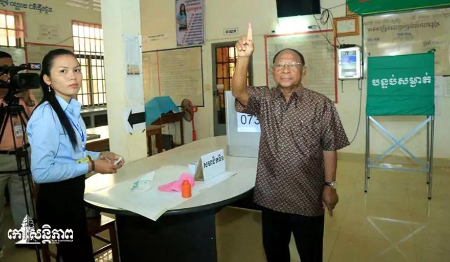 Heng Samrin, President of the National Assembly