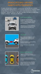 cut out bad driving with telematics infographic