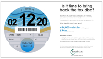 Is it time to bring back the tax disc? – Infographic