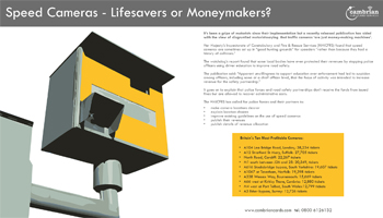 Speed Cameras – Lifesavers or Moneymakers? – Infographic