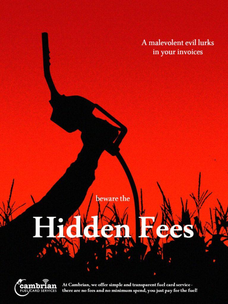 hidden fees poster