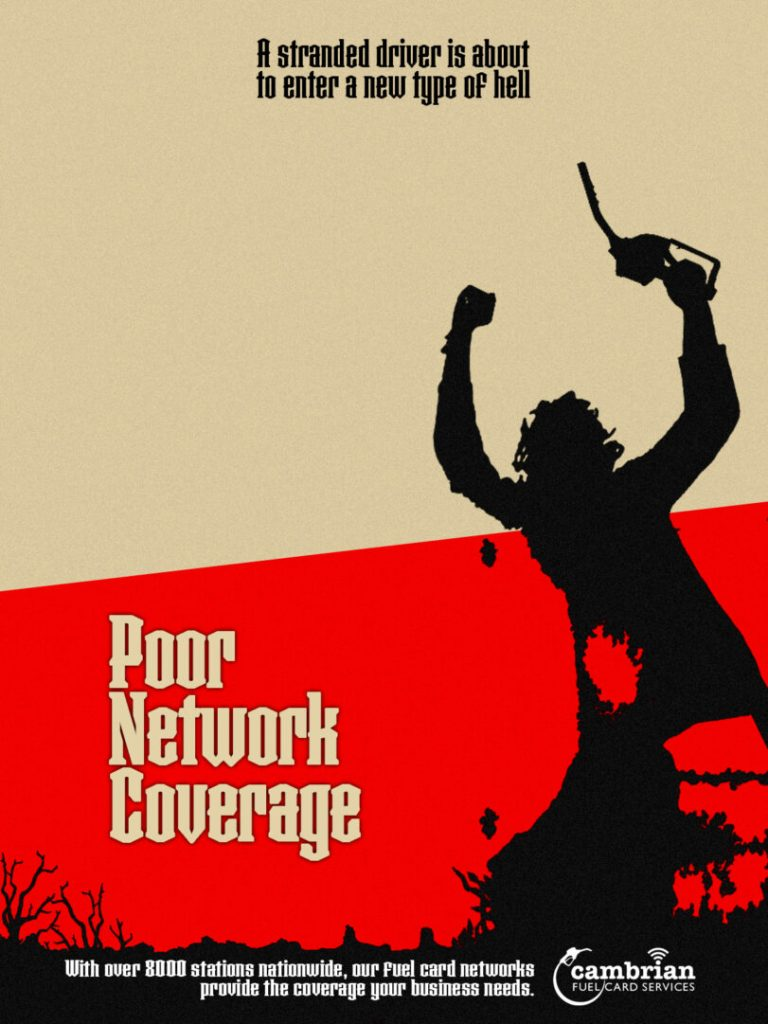 poor network coverage poster