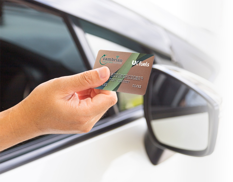 hand holding ukfuels card