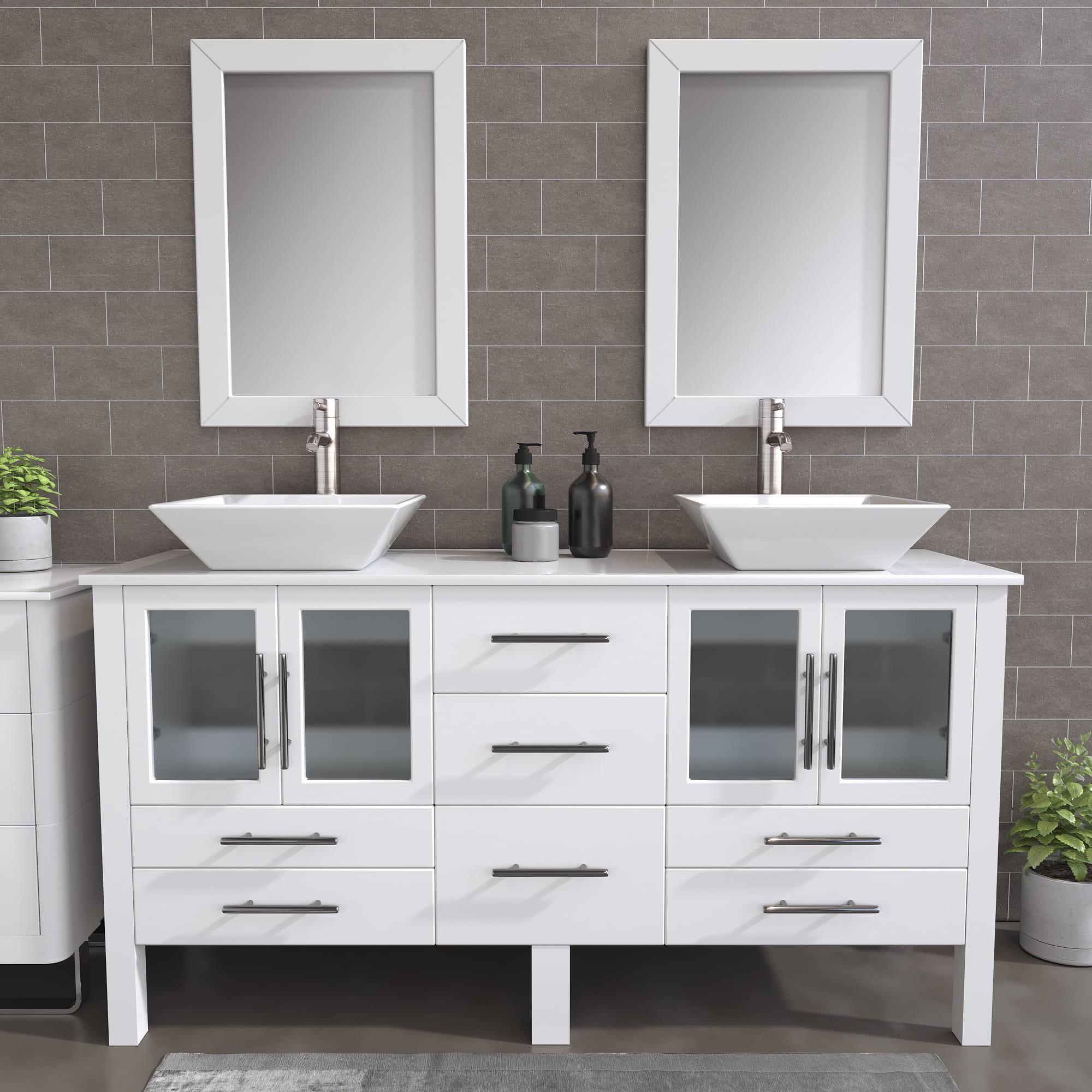 trim porcelain vessel sink double